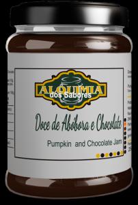 Doce de Abóbora e Chocolate